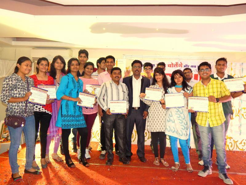 Certified students of Rapid Institute